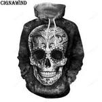 Skull 3D All Over Print Hoodie, Zip-up Hoodie