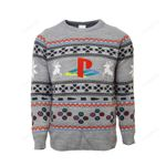 Official PlayStation Console Ugly Christmas Sweater, All Over Print Sweatshirt