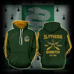 Slytherin Quidditch Team Harry Potter 3D All Over Print Hoodie, Zip-up Hoodie
