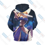 Fate/Stay Night Saber 3D All Over Print Hoodie, Zip-up Hoodie