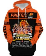 Phoenix Suns Western Conference Finals Champion 3D All Over Print Hoodie, Zip-up Hoodie