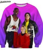 Harajuku Jordan Michael Jackson All Over Print Sweatshirt