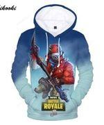 Men Fortnite Battle Royale 3D All Over Print Hoodie, Zip-up Hoodie