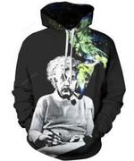 Smoking Einstein 3D All Over Print Hoodie, Zip-up Hoodie