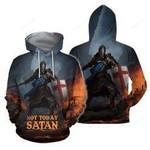 Not Today Satan 3D All Over Print Hoodie, Zip-up Hoodie