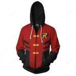 Japan Anime Red Robin Cosplay 3D All Over Print Hoodie, Zip-up Hoodie