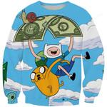 Adventure Time Group Finn and Jake 3D All Over Print Hoodie, Zip-up Hoodie