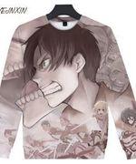 Attack on Titan Animated All Over Print Sweatshirt