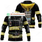 Firefighter 3D All Over Print Hoodie, Zip-up Hoodie
