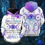 Magick I Believe In My Self And God Halloween 3D All Over Print Hoodie, Zip-up Hoodie