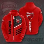 Ducati Red Version 3D All Over Print Hoodie, Zip-up Hoodie