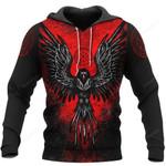 Viking Raven Vegvisir 3D All Over Print Hoodie, Zip-up Hoodie