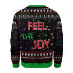 Feel The Joy Ugly Christmas Sweater, All Over Print Sweatshirt