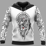 Odin Raven Raven Vegvisir 3D All Over Print Hoodie, Zip-up Hoodie