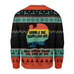 Turkey Gobble Me Swallow Me Drip Gravy Down The Side Of Me Ugly Christmas Sweater, All Over Print Sweatshirt