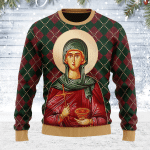 St. Paraskeve Ugly Christmas Sweater, All Over Print Sweatshirt