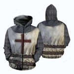 Knights Templar Armor 3D All Over Print Hoodie, Zip-up Hoodie