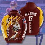 Washington Redskins 3D All Over Print Hoodie, Zip-up Hoodie