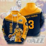 Utah Jazz 3D All Over Print Hoodie, Zip-up Hoodie