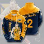 Utah Jazz Joe Ingles 3D All Over Print Hoodie, Zip-up Hoodie