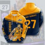 Utah Jazz Rudy Gobert 3D All Over Print Hoodie, Zip-up Hoodie