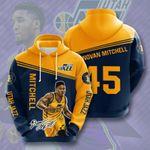 Utah Jazz Donovan Mitchell 3D All Over Print Hoodie, Zip-up Hoodie