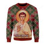 Thomas The Apostle Ugly Christmas Sweater, All Over Print Sweatshirt