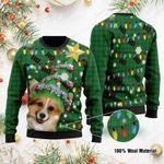 Ho Ho Ho Corgi Dog Christmas Tree Ugly Christmas Sweater, All Over Print Sweatshirt