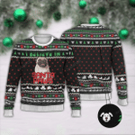 I Believe In Santa Paws  Ugly Christmas Sweater, All Over Print Sweatshirt