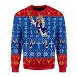 Super Jesus Ugly Christmas Sweater, All Over Print Sweatshirt