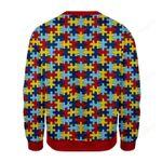 Merry Christmas Gearhomies Puzzle Ugly Christmas Sweater, All Over Print Sweatshirt