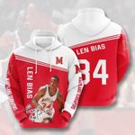 Sports Basketball Nba Maryland Terrapins Len Bias 3D All Over Print Hoodie, Zip-up Hoodie