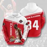 Sports Basketball Nba Houston Rockets Hakeem Olajuwon 3D All Over Print Hoodie, Zip-up Hoodie