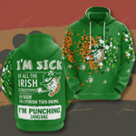 St Patricks Day 3D All Over Print Hoodie, Zip-up Hoodie