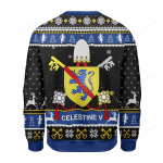 Merry Christmas Gearhomies Celestine V Coat of Arms  Ugly Christmas Sweater, All Over Print Sweatshirt