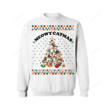 Meowy Catmas Ugly Christmas Sweater, All Over Print Sweatshirt