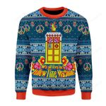 We All Live In A Yellow Time Machine Ugly Christmas Sweater, All Over Print Sweatshirt