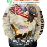 One Nation Eagle Under God 3D All Over Print Hoodie, Zip-up Hoodie