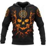 Skull Viking And Backbone 3D All Over Print Hoodie, Zip-up Hoodie