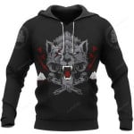 Wolf Of Odin Viking 3D All Over Print Hoodie, Zip-up Hoodie