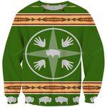 Medicine Wheels Bisons Ugly Christmas Sweater, All Over Print Sweatshirt