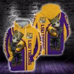 Baby Groot LSU Tigers 3D All Over Print Hoodie, Zip-up Hoodie