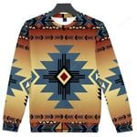 Blue Pearl Pattern Ugly Christmas Sweater, All Over Print Sweatshirt