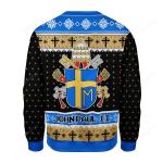 Merry Christmas Gearhomies John Paul II Coat of Arms Ugly Christmas Sweater, All Over Print Sweatshirt