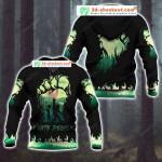 Bigfoot and Alien 3D All Over Print Hoodie, Zip-up Hoodie