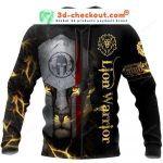 Lion Spartan Warrior 3D All Over Print Hoodie, Zip-up Hoodie