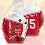 Sports Basketball Nba Houston Rockets Clint Capela 3D All Over Print Hoodie, Zip-up Hoodie
