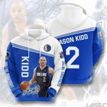 Sports Basketball Nba Dallas Mavericks Jason Kidd 3D All Over Print Hoodie, Zip-up Hoodie