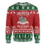 I Am A Crocheter Yarn Sewing Ugly Christmas Sweater, All Over Print Sweatshirt