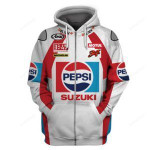 Sports Pepsi Suzuki Racer 3D All Over Print Hoodie, Zip-up Hoodie